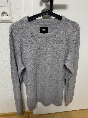 Hellgrauer Pullover für Männer