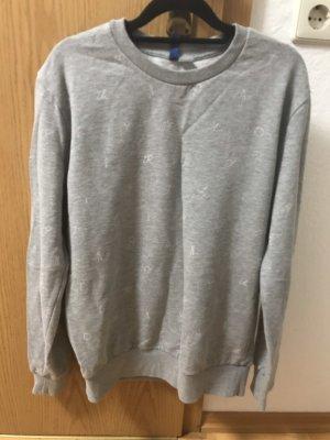 H&M Divided Crewneck Sweater light grey-white