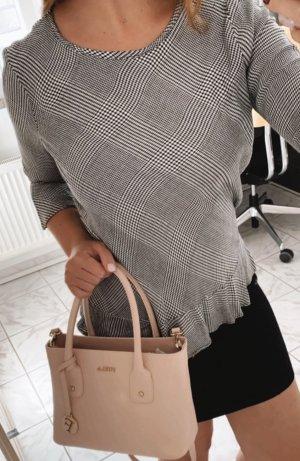 Asos Short Sleeved Blouse light grey-grey cotton