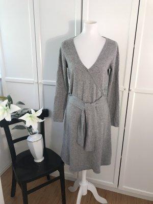 Joseph Janard Robe en maille tricotées gris-gris clair