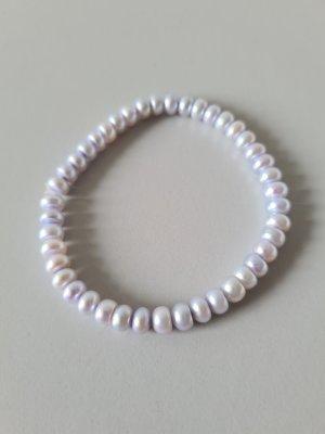 Armband met parels lichtgrijs