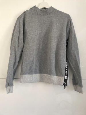 Hellgraues Sweatshirt mit Rollkragen von G-Star RAW S 36