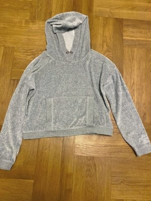 s. Oliver (QS designed) Hooded Sweatshirt silver-colored-grey cotton