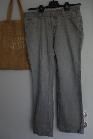 Boden Jeansy z prostymi nogawkami szaro-zielony Bawełna