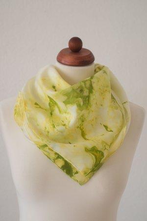 Handarbeit Silk Cloth grass green-neon yellow silk