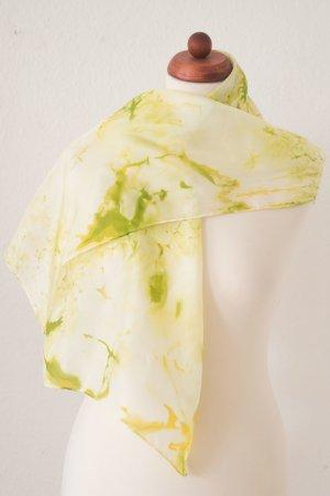 Handarbeit Silk Cloth yellow-sage green