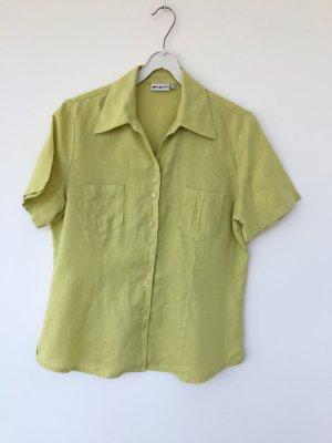 hellgrüne Leinen Bluse von Fabiani - Größe 40