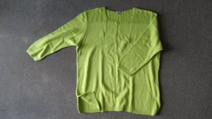 Pull en laine vert prairie-vert gazon tissu mixte