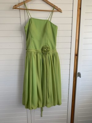 Balloon Dress lime-green-pale green
