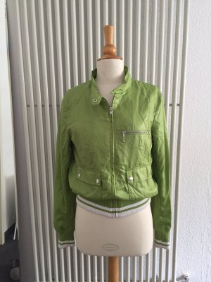H&M Blouson grass green-white
