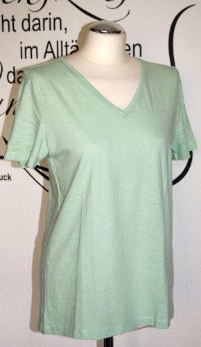 Hellgrünes T-Shirt mit V-Ausschnitt (100% Baumwolle) - NEU!!