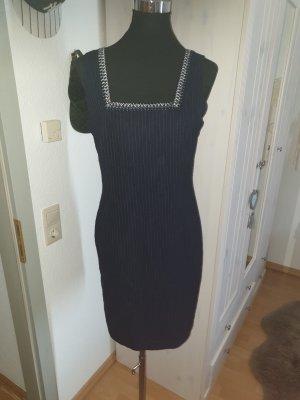 Helline Sukienka o kroju litery A srebrny-ciemnoniebieski
