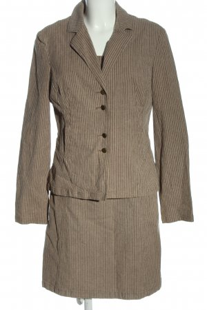 Helline Ladies' Suit brown-natural white striped pattern business style