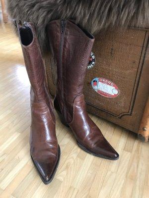 Bluzi Boots western cognac cuir
