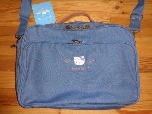 Hello kitty Borsa college blu fiordaliso-marrone Denim