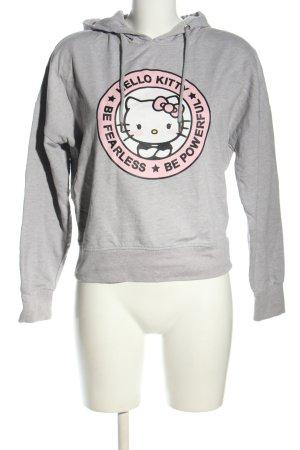 Hello kitty Sweatshirt hellgrau-pink meliert Casual-Look