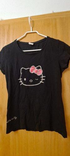 Hello kitty Camiseta negro