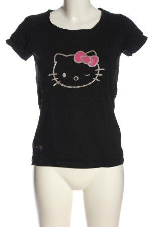 Hello kitty Camiseta negro estampado temático look casual