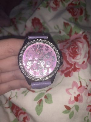 Hello kitty Reloj analógico púrpura