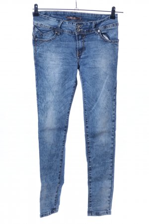 Hello Miss Skinny Jeans blau-weiß Farbverlauf Casual-Look