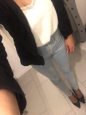 H&M Pantalon cigarette bleu azur