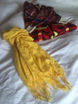 Marc O'Polo Écharpe à franges jaune coton