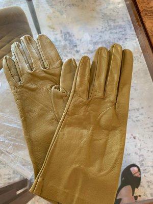 Rękawiczki skórzane piaskowy brąz
