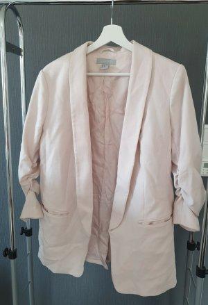 H&M Lange blazer stoffig roze-rosé