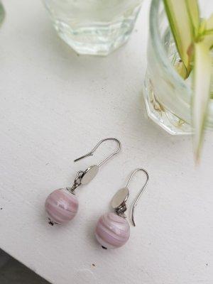 Hellrosa Ohrhänger aus Murano-Glas