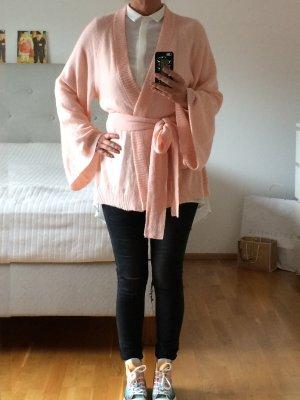 Wildfox Cardigan in maglia rosa chiaro