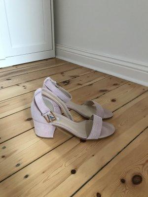 Hellrosa Sandalen mit Blockabsatz Von DUNE