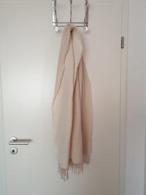 Bufanda de lana rosa empolvado-rosa
