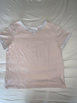 H&M T-shirt jasny różowy