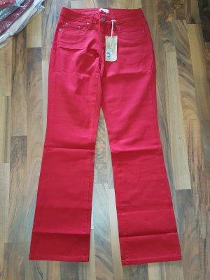 AJC Jeans met rechte pijpen lichtrood