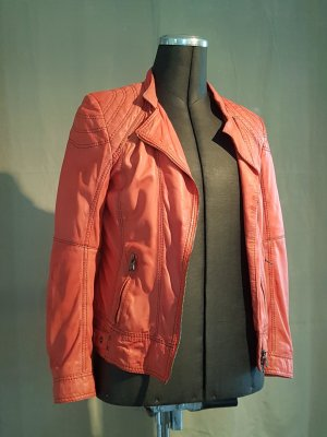 Milestone Leather Jacket bright red leather