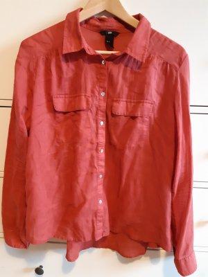 Hellrote, luftige Bluse von H&M
