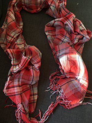 H&M L.O.G.G. Bufanda de flecos salmón-rojo claro