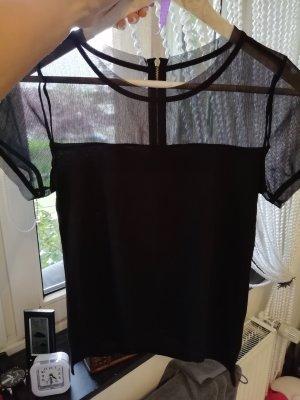 hellschwarze Bluse mit Reißverschluss von H&M 36