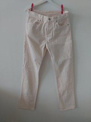 Hellstrosa farbene Jeans