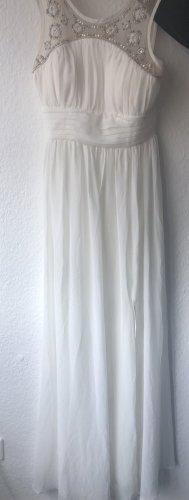 Adrianna Papell Vestido línea A blanco