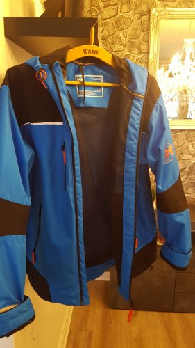 Helly hansen Raincoat black-neon blue