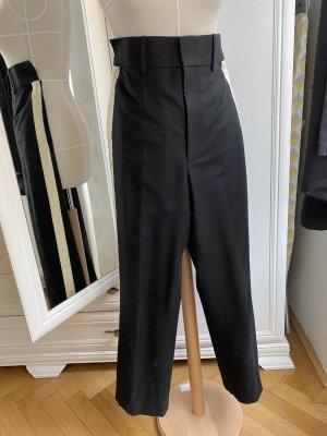 Helmut Lang Pantalon de costume noir-crème