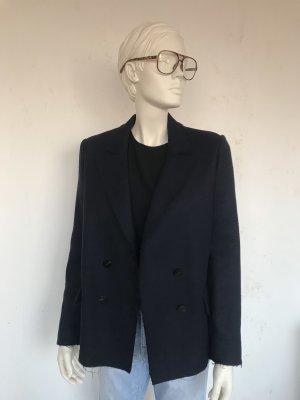 Helmut Lang Giacca di lana blu scuro Lana