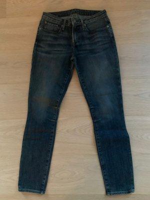 Helmut Lang Jeans a sigaretta blu scuro