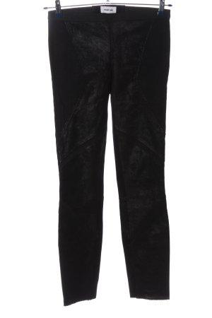 Helmut Lang Pantalón de cuero negro look casual