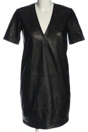Helmut Lang Vestido de cuero negro elegante
