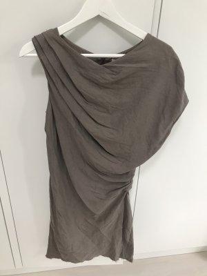 Helmut Lang Abito monospalla marrone-grigio