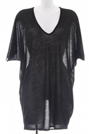 Helmut Lang Oversized Shirt schwarz Casual-Look