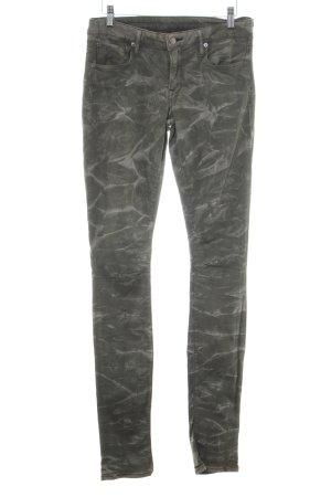 Helmut Lang Skinny Jeans hellgrau-khaki Casual-Look
