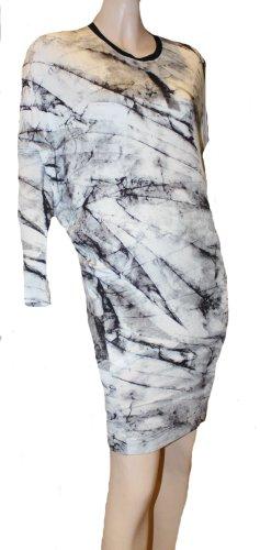 HELMUT LANG Strand Sommer Kleid schwarz weiß Jersey Gr. 36/38